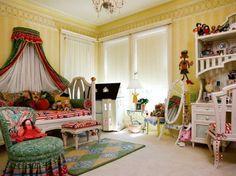 Whimsical girls bedrooms | Kids bedroom vibrant bed crown 530x397 at Comfortablehomedesign.com