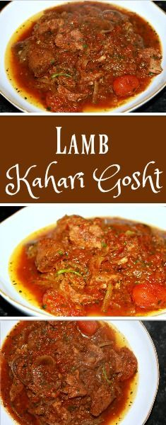 Karahi Gosht in this recipe is a slow cooked lamb curry. Traditionally, Karahi Gosht is cooked in a wok, but for the purposes of this recipe, I cooked the lamb curry in a slow cooker. What makes this slow cooked lamb curry special is the combination of Indian Slow Cooker Recipes, Lamb Recipes, Veg Recipes, Curry Recipes, Cooking Recipes, Chicken Recipes, Healthy Recipes, Lamb Chops Slow Cooker, Slow Cooked Lamb