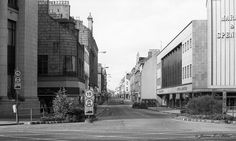 Not the greatest of shots, but a view looking up St. Nicholas Street and George Street in Aberdeen, just prior to the building of the St. Nicholas and Bon-Accord Shopping Centres. Aberdeen Scotland, City By The Sea, Silver City, Make Way, Saint Nicholas, North Sea, Places Of Interest, The St, Shopping Center