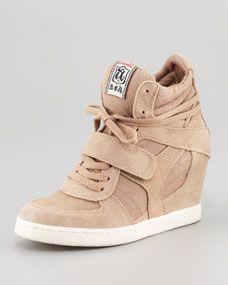 Cool Hi-Top Wedge Sneaker, Olive