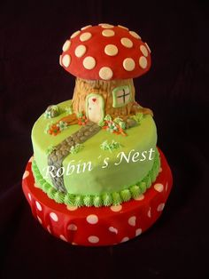 Chocolate cake with dulce de leche and white chocolate filling- fondant decor.  For a four year old