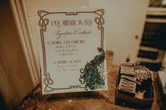 Gatsby Inspired Wedding - Signature Cocktails - Art Deco Wedding