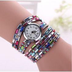 Relógio Bracelete Colorido