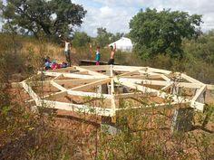 bois dôme géodésique zome toile habitat léger nomade bardage bardeaux fabriquer yourte icosaèdre tournage vaisselle atypique construire