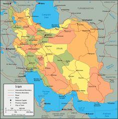 Cartes d'Iran, plans de villes d'Iran, plan de Téhéran, vue satellite d'Iran