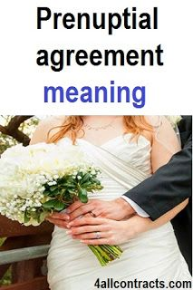 Introduction In Prenuptial Agreement See The Text In Original