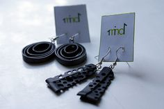 Inner tube earrings by 1mind1, via Flickr