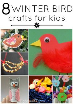 Winter bird crafts and activities for kids.