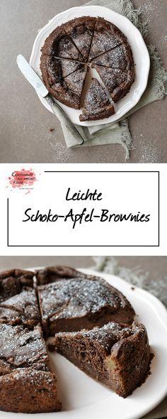 Leichte Schoko-Apfel-Brownies | Backen | Kuchen | Rezept | Weight Watchers
