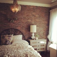 Textured Brick Wallpaper Bedroom Ideas