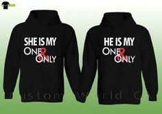 Couple Hoodie He She is My One and Only His and Hers Couple Matching Sweat Shirt in Clothing, Shoes & Accessories | eBay