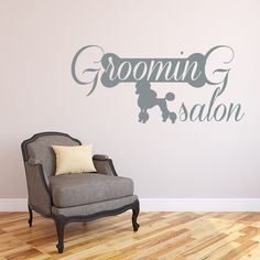 """Dear Buyers, Welcome to our shop BestDecals! Wall Decals Domestic Animals Decal Dog Poodle Vinyl Sticker Home Decor Design Veterinary Shop Grooming Salon Murals ★ SIZE AND COLOR ★ Approximate Item Sizes: 10"""" tall x 22"""" wide (25 cm x 56 cm) 15"""" tall x 33"""" wide (38 cm x 84 cm) 20"""" tall x 44"""" wide (51 cm x 112 cm) ✓✓✓If this size is inappropriate for you, you can contact us and provide your dimensions and we can create for you decal of any size. ✓✓✓Decal can be made in any of our colors…"""