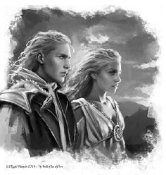 """Black and white rough study for the """"Valyrian Couple"""" in A World of Ice and Fire. #AWOIAF #ASOIAF #AGOT"""