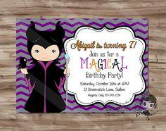 Maleficent Birthday Invite Maleficent Birthday by SewKawaiiKids