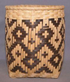 Cherokee Split Oak Basket Native American Indians, Cherokee Indians, Fair Isle Pattern, Knitting Patterns, Knitting Ideas, Archaeology, Basket Weaving, Indiana, Craft Projects