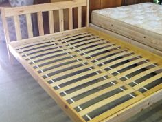 Double Bed Frame In Good Condition ----- All slats in tact, local delivery service available £45 (PC050)