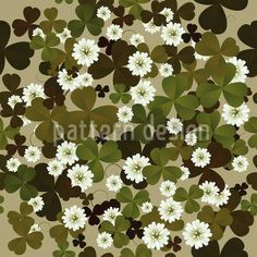 Wild Clover by Richard Laschon available for download as a vector file on patterndesigns.com