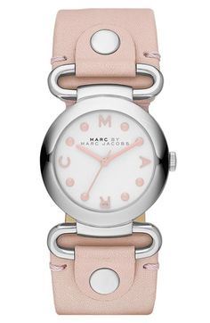 MARC BY MARC JACOBS 'Small Molly' Leather Strap Watch