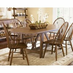 Buy Liberty Furniture Farmhouse Traditional 102x40 Rectangular Dining Table in Oak on sale online