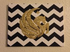Collegiate Decorative Canvas by CustomizedCanvasArt on Etsy, $20.00