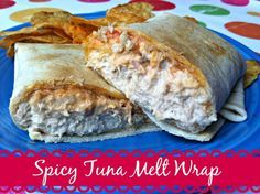Looking for a quick and easy lunch idea? Try this Spicy Tuna Melt Wrap! With just a bit of a spicy kick, and warm melty cheese, this lunch idea is a hit! Tuna Recipes, Seafood Recipes, Cooking Recipes, Healthy Recipes, Budget Recipes, Wrap Recipes, Skinny Recipes, Healthy Meals, Yummy Recipes