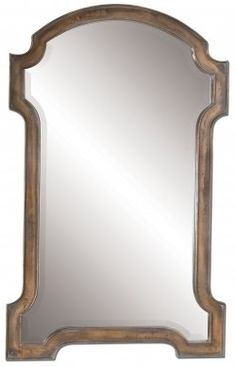 Corciano Oxidized Copper Mirror Frame Finished In Accented With A Light Gray Glaze