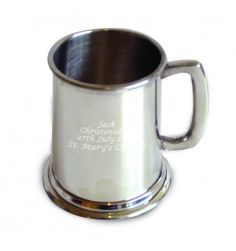 Pewter Half Pint Tankard   Hip Flasks & Silver Tankards   Exclusively Personal