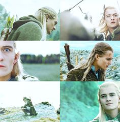 """For Legolas was fair of face beyond the measure of Men, and he sang an elven-song in a clear voice as he walked in the morning."""