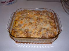 Taco casserole... this is amazing. Staying in rotation for sure!