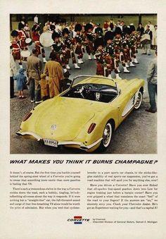 1959 Chevy Corvette Convertible Ad