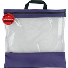 Seeyourstuff Clear Storage Bag is perfect for storing your craft materials          Tote is made of clear 20-gauge vinyl and poly-tough duck cloth          Bag is reinforced on the top and bottom          Zipper closure at the top          Bag is 16 inches wide x 16 inches high          Available in purple color option