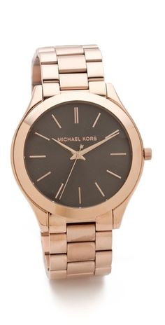 Michael Kors // Slim Runway Watch ...love the color of the watch face