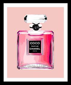 COCO Chanel Perfume Bottle Print