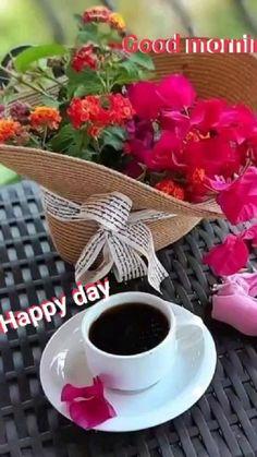 Sunday Morning Coffee, Morning Rose, Good Morning Gif, Good Morning Flowers, Good Morning Greetings, Good Morning Wishes, Coffee Latte, I Love Coffee, Coffee Break