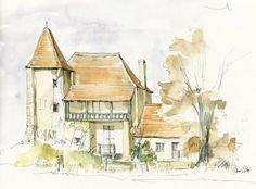 Château de Barbarin, Chaume, Nièvre, France by Linda Vanysacker- Van der Mooter
