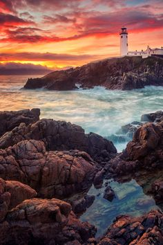 A Magical Moment by Matthias Haker on 500px The Fanand Head Lighthouse in County Donegal, Republic of Ireland