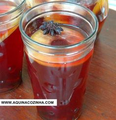 Chá de hibisco com maçã e especiarias