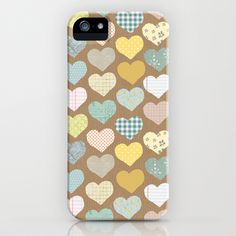 hearts pattern iphone case by flying bathtub