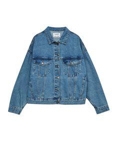 Oversized denim jacket with drop shoulders - Denim Collection - Denim - HIDDEN - PULL&BEAR Germany