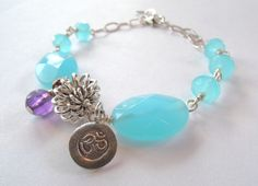 Aqua Quartz and Amethyst Sterling Silver Ohm Charm Bracelet – Beth Lerner Jewelry http://bethlernerjewelry.com/collections/frontpage/products/aqua-quartz-and-amethyst-sterling-silver-om-charm-bracelet