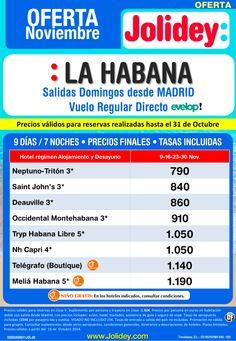Oferta Noviembre a La Habana desde 790€ Tax. Incl. Salidas 9, 16, 23 y 30 Noviembre ultimo minuto - http://zocotours.com/oferta-noviembre-a-la-habana-desde-790e-tax-incl-salidas-9-16-23-y-30-noviembre-ultimo-minuto/