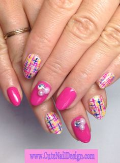 ♥Cute Nail Design♥ » Pictures of Pretty Nail Designs » Colorful Tweed Nails by Emi Japanese Nail Design, Japanese Nails, Cute Nails, Pretty Nails, Nail Designs Pictures, Pretty Nail Designs, Tweed, Nail Art, Colorful
