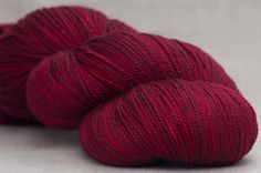 "Broke down and bought this ""Red Roses"" yarn from Sundara.  The merino and silk lace yarn is a gift to me for Valentines Day."