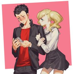 Ryuji and Ann: The Middle School Years : Persona5