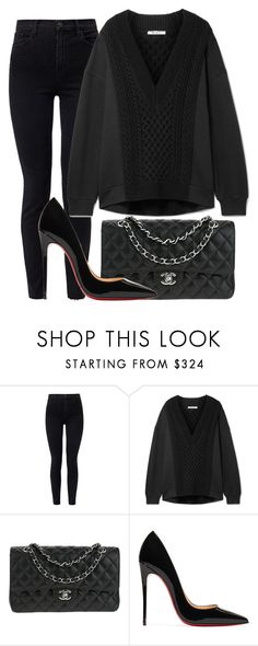 """720."" by plaraa on Polyvore featuring J Brand, T By Alexander Wang, Chanel and Christian Louboutin"