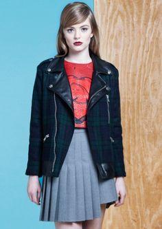 Lucille Pleated Skirt: http://shop.nylon.com/collections/whats-new/products/lucille-pleated-skirt #NYLONshop