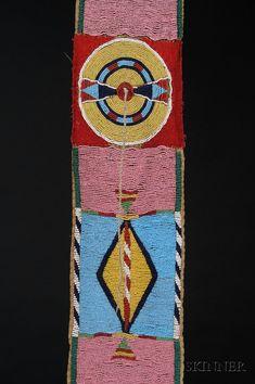 Plains Beaded Buffalo Hide Blanket Strip   Sale Number 2442, Lot Number 186   Skinner Auctioneers