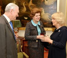 The Duchess of Cornwall greets supporters of The Brooke at a luncheon to mark its 80th anniversary