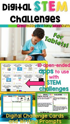 STEM goes digital with these fun and engaging design challenges. 10 apps and 90 challenges perfect for grades K-5. If you are in a paperless classroom or 1:1 with laptops or Chromebooks then these are ideal for you, but can also be used during tech lab time or with the iPad cart.