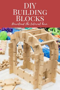 These DIY interlocking building bricks look great!  I would rather buy them already made, though! #blocks #kids